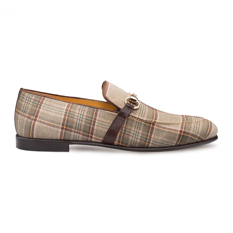 Mezlan Knighton Fabric Shoes Taupe/Brown Image