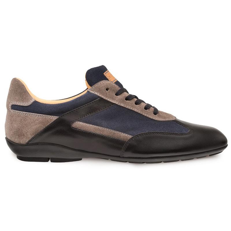 Mezlan Landguard Calfskin Suede Crossover Shoes Black Multi Image