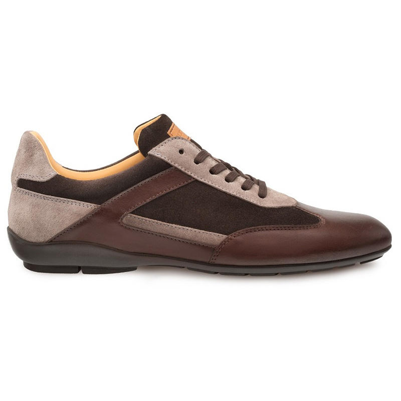Mezlan Landguard Calfskin Suede Crossover Shoes Brown Multi Image