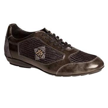Mezlan Velvet & Calf Sneakers Gray Image