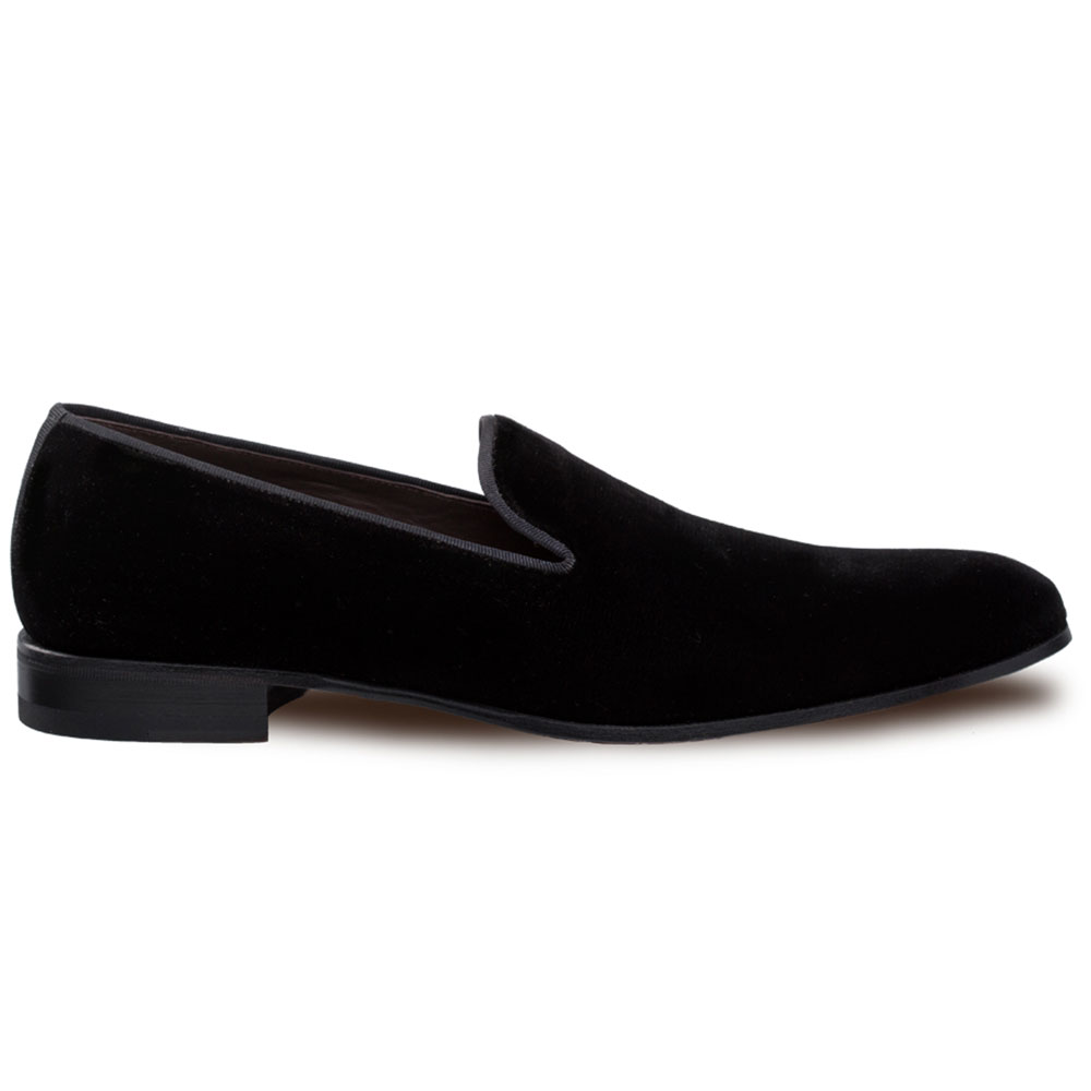 Mezlan Lublin Velvet Formal Loafers Black Image