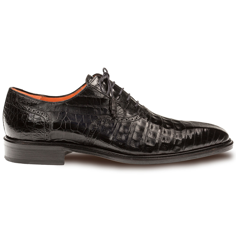 Mezlan Lupo Crocodile Oxfords Black Image