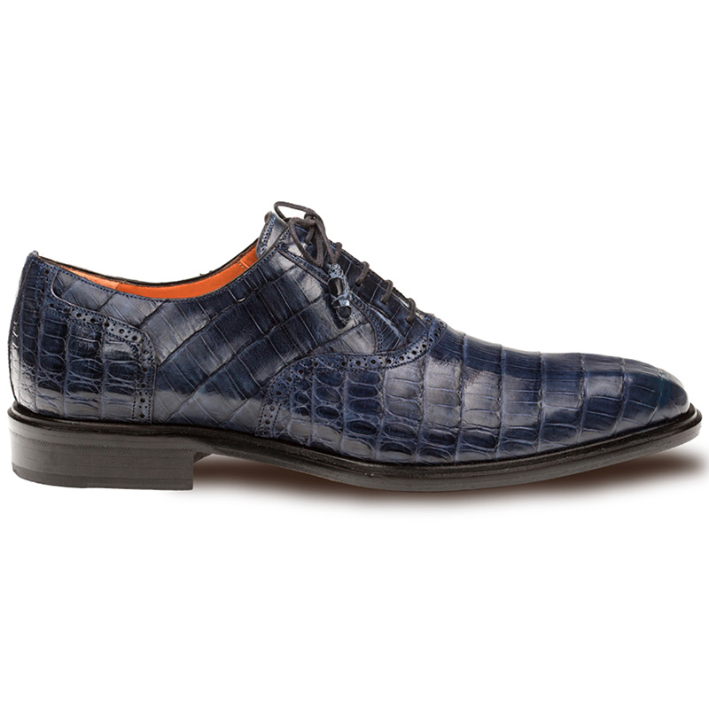 Mezlan Lupo Crocodile Oxfords Blue Image