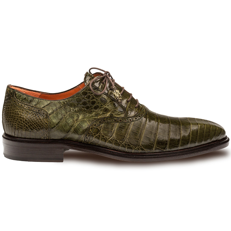 Mezlan Lupo Crocodile Oxfords Olive Image
