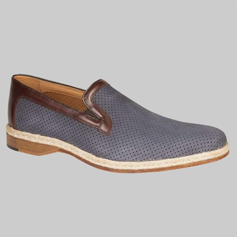 Mezlan Marcet Suede / Calfskin Shoes Blue / Brown Image