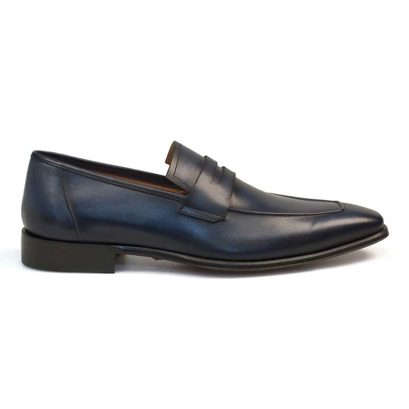 Mezlan Marcus Loafer Shoes Blue Image
