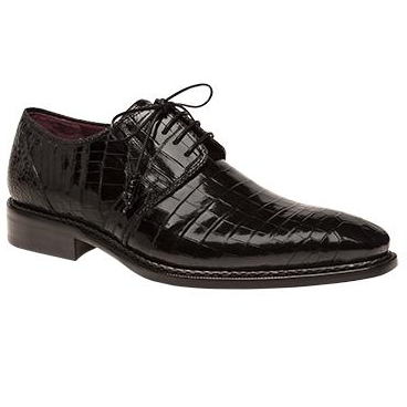 Mezlan Marini Alligator Derby Shoes Black Image