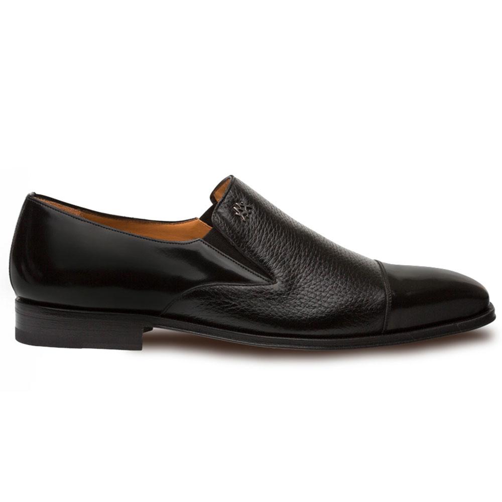Mezlan Milani Deerskin Cap Toe Loafers Black Image