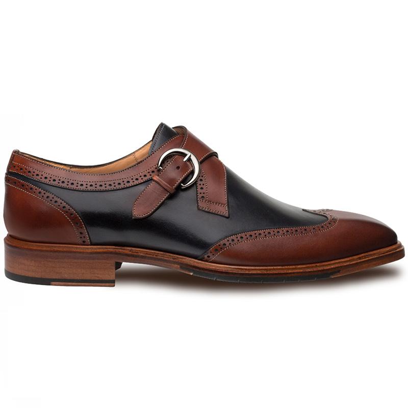Mezlan Modesto Calfskin Shoes Cognac / Blue Image