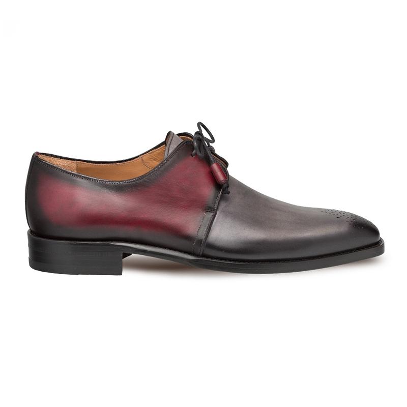 Mezlan Montes Calfskin Shoes Grey/Burgundy Image