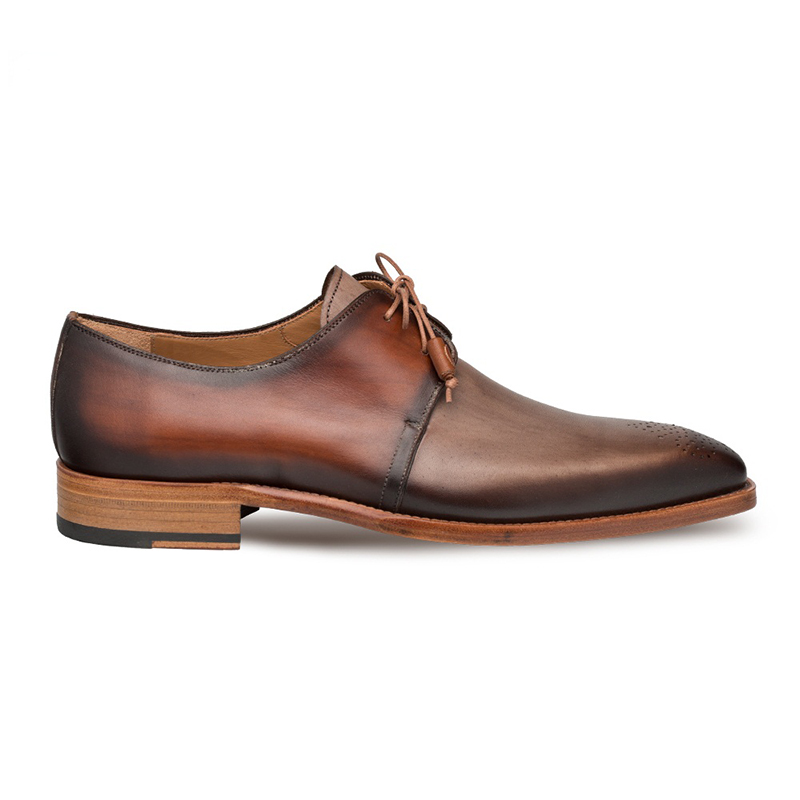 Mezlan Montes Calfskin Shoes Taupe/Cognac Image