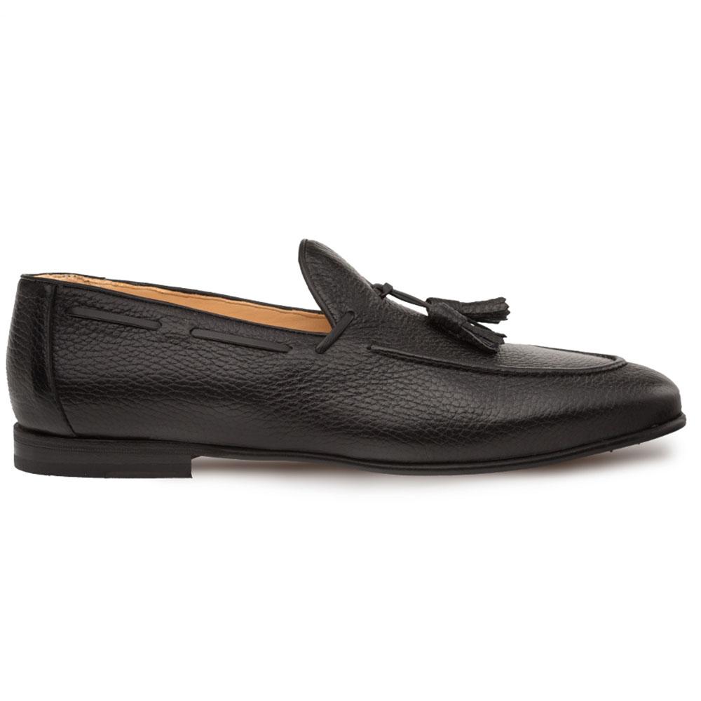 Mezlan Montier Deerskin Tassel Loafers Black Image