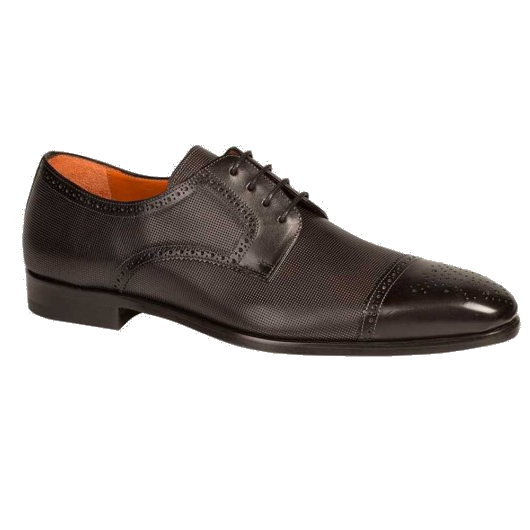 Mezlan Moseley Cap Toe Shoes Black Image