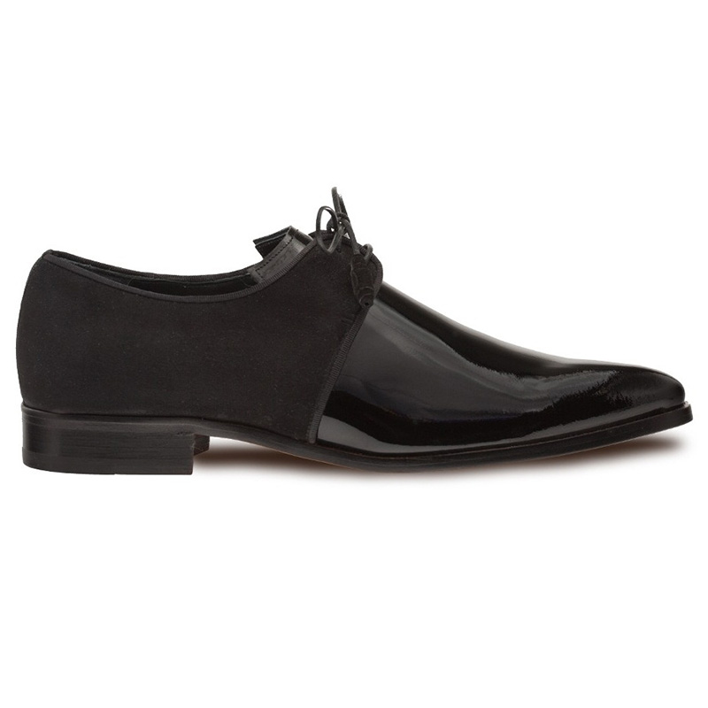 Mezlan Newell Patent Suede Shoes Black Image