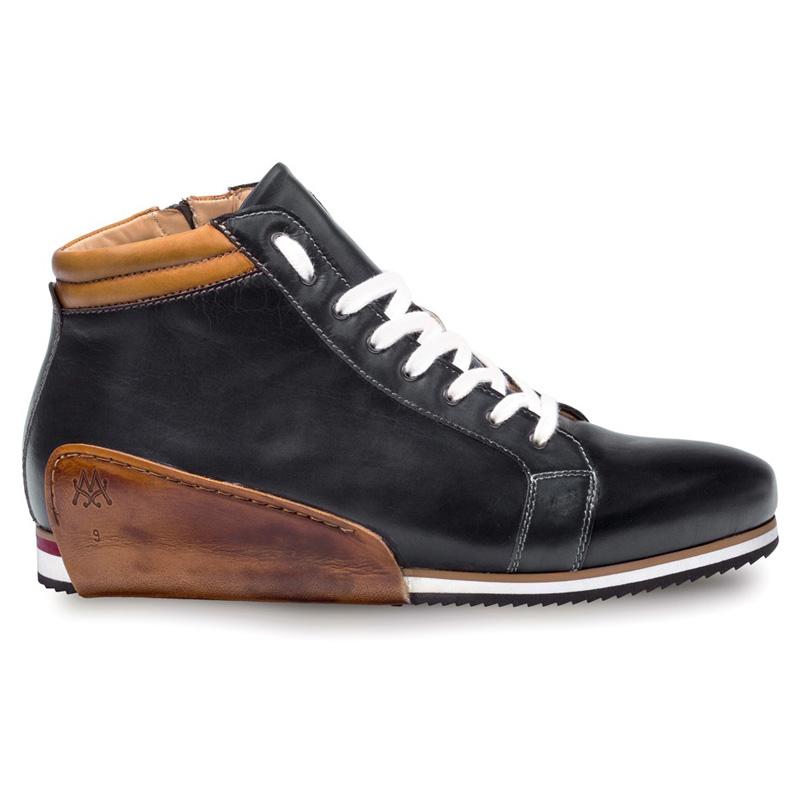 Mezlan Niro Calfskin Sneaker Black Tan Image