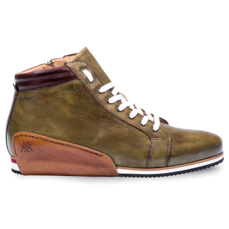 Mezlan Niro Calfskin Sneaker Olive Image
