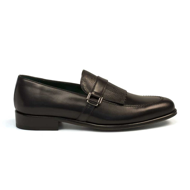 Mezlan Octavio Calfskin Shoes Black Image