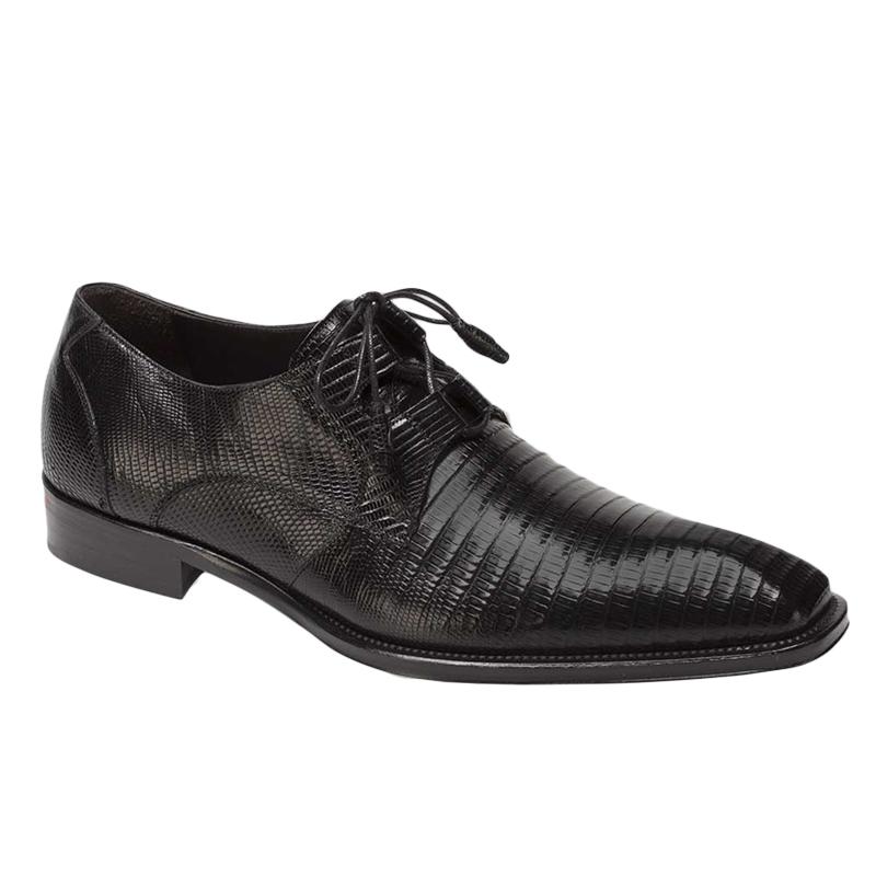 Mezlan Padilla Lizard Shoes Black Image