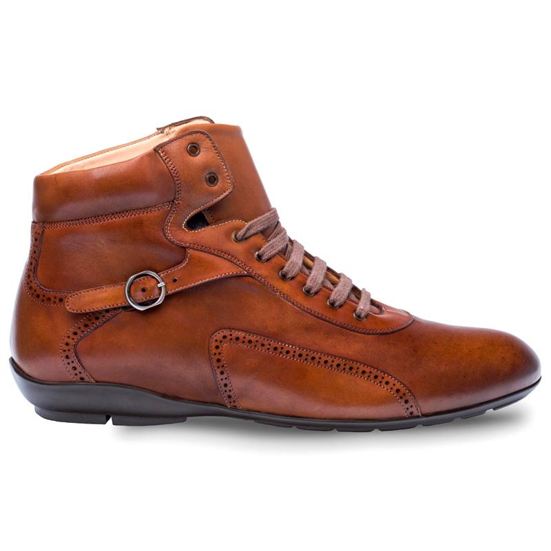 Mezlan Pasquale Calfskin Sport Boots Cognac Image