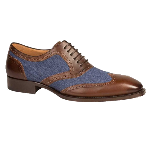 Mezlan Pasteur Wingtip Spectator Shoes Brown / Blue Image