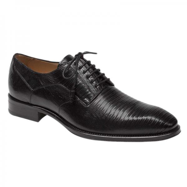 Mezlan Pegaso Lizard Shoes Black Image