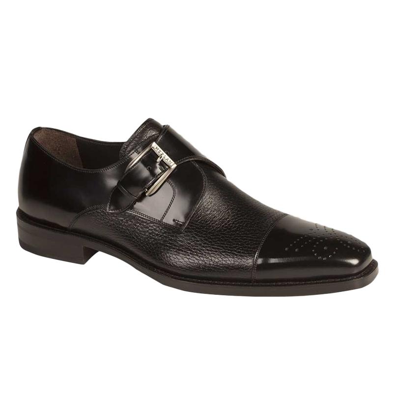 Mezlan Phoenix Calfskin Deerskin Shoes Black Image