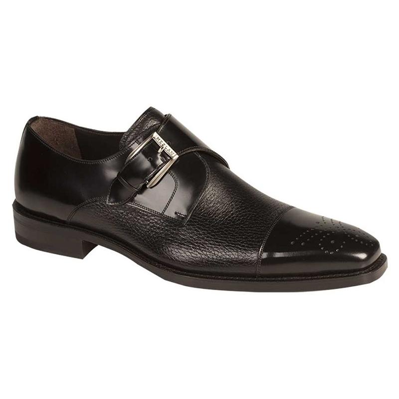 Mezlan Phoenix Calfskin / Deerskin Shoes Black Image