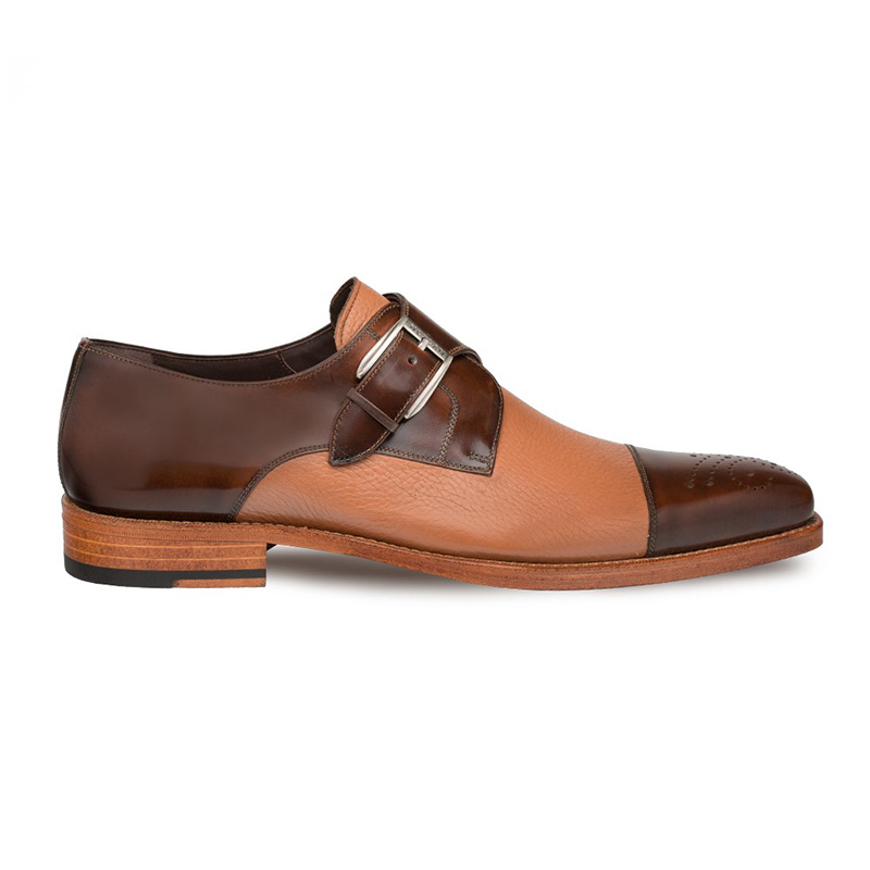 Mezlan Phoenix Calfskin / Deerskin Shoes Camel Image