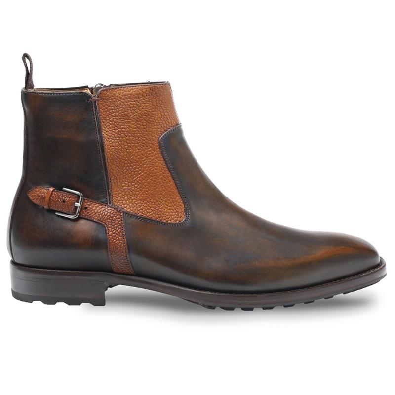 Mezlan Pitt Calfskin Boots Tabac Tan Image