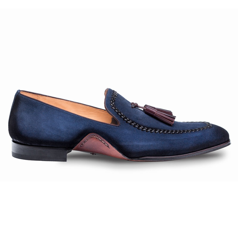 Mezlan Plazza Loafer Shoes Blue Image