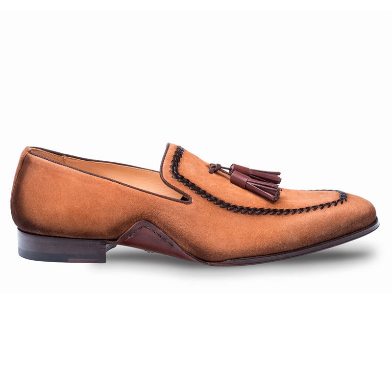 Mezlan Plazza Loafer Shoes Cognac Image
