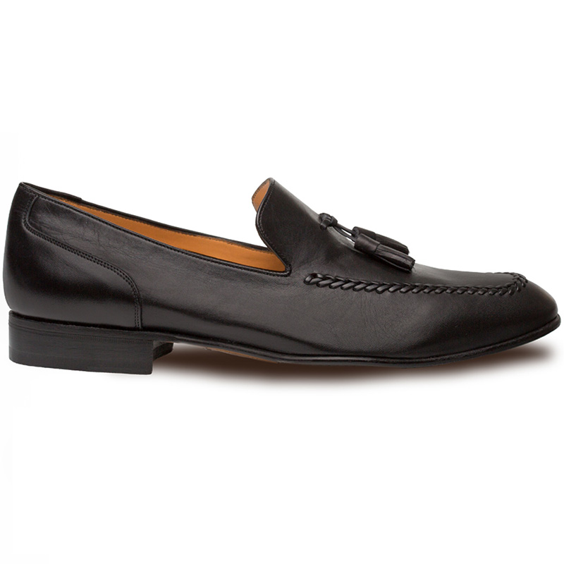 Mezlan Plinio Calfskin Shoes Black Image