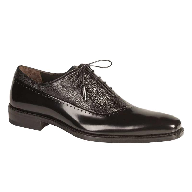 Mezlan Postdam Deerskin Calfskin Shoes Black Image