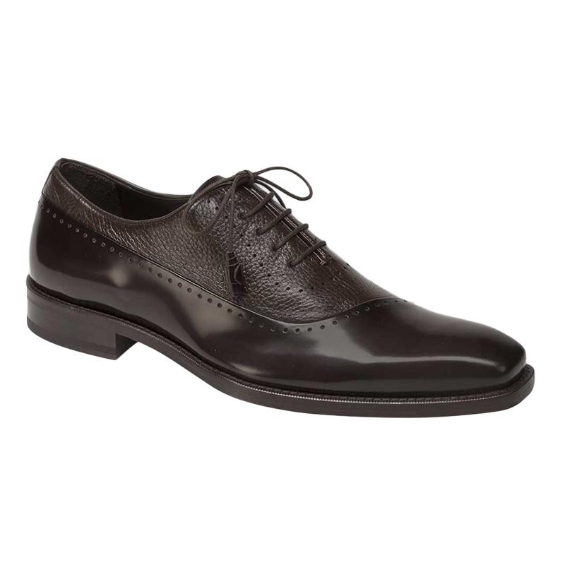 Mezlan Postdam Deerskin Calfskin Shoes Brown Image