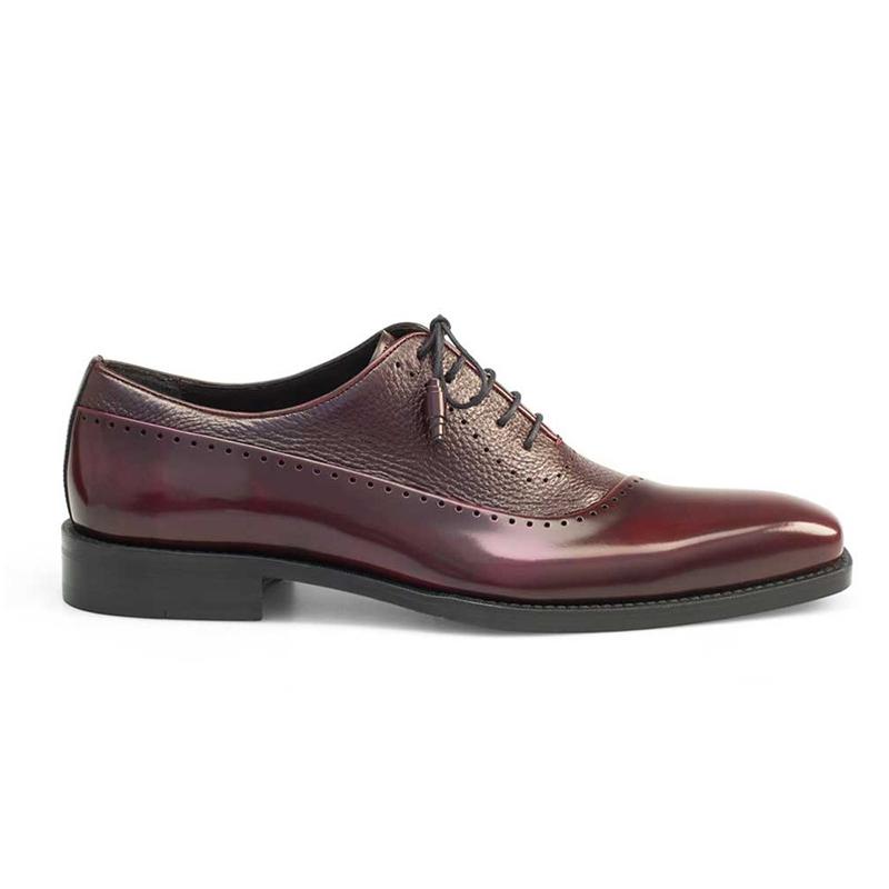 Mezlan Postdam Deerskin Calfskin Shoes Burgundy Image