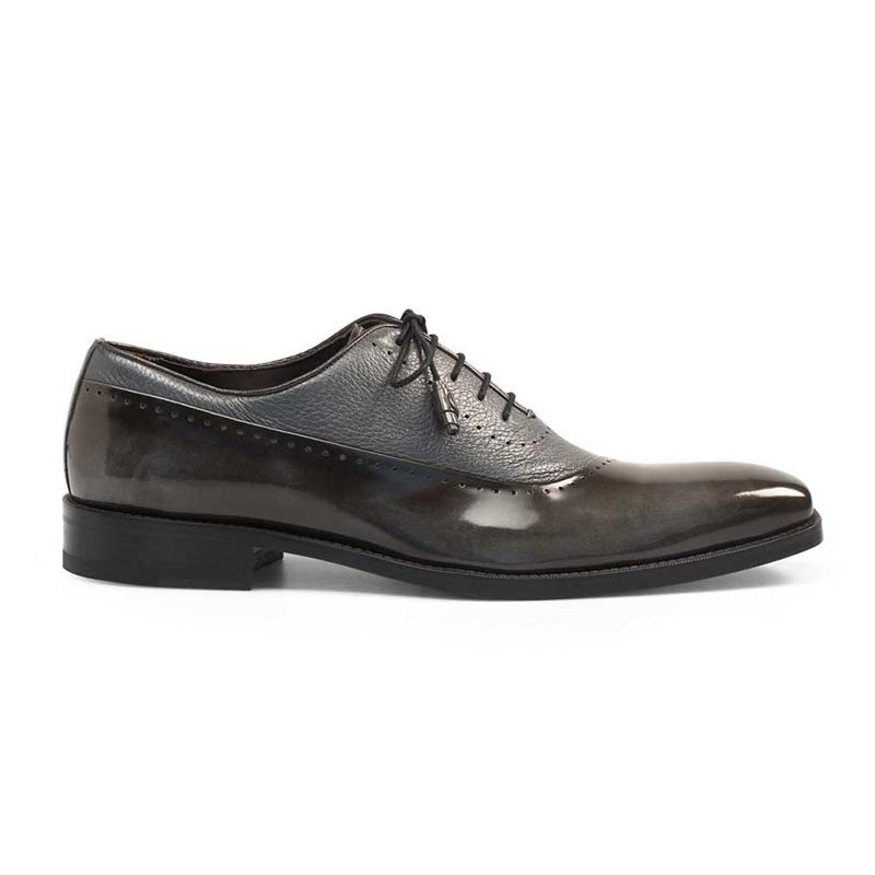 Mezlan Postdam Deerskin Calfskin Shoes Grey Image