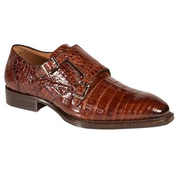 Mezlan Prague Crocodile Double Monk Strap Shoes Sport Image