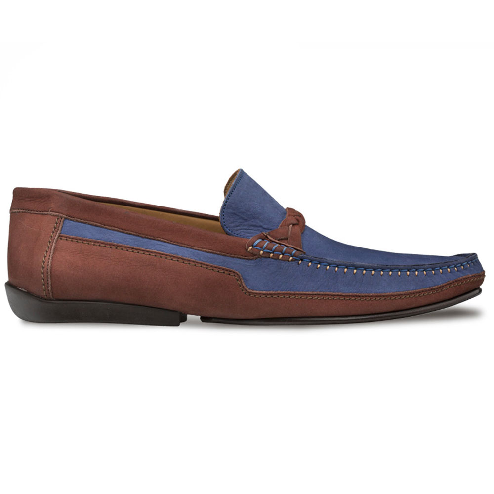Mezlan R601 Suede Driving Shoes Brown/Blue Image