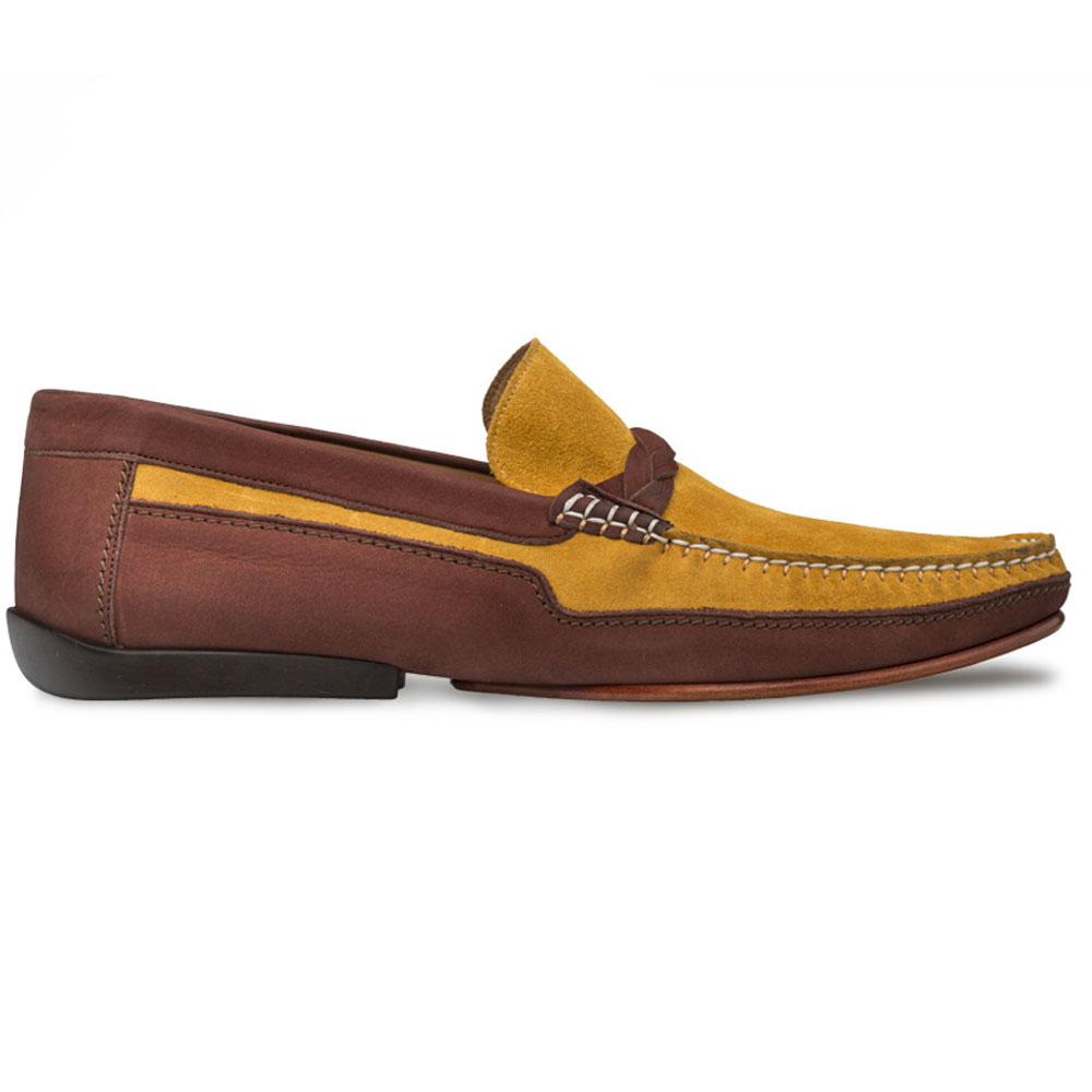 Mezlan R601 Suede Driving Shoes Brown/Mustard Image