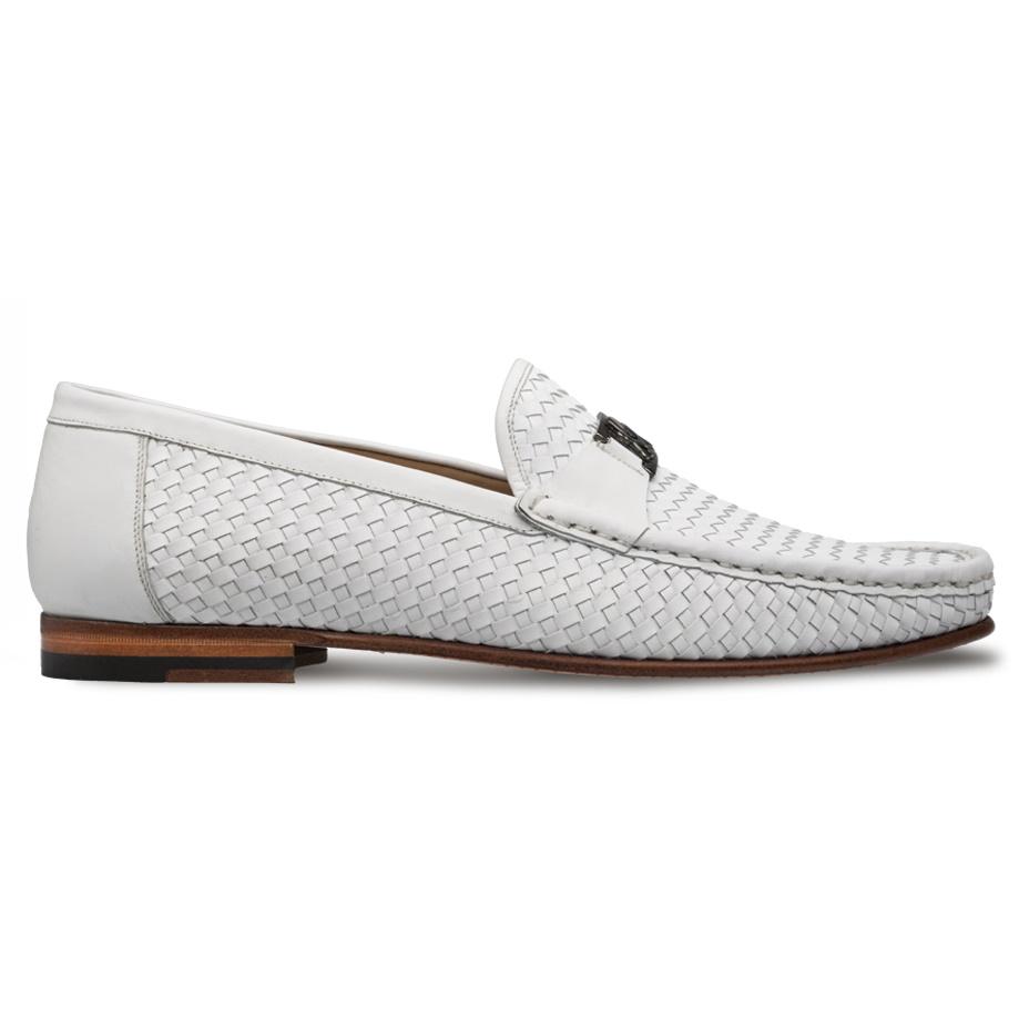Mezlan R603 Woven Icon Loafers White Image