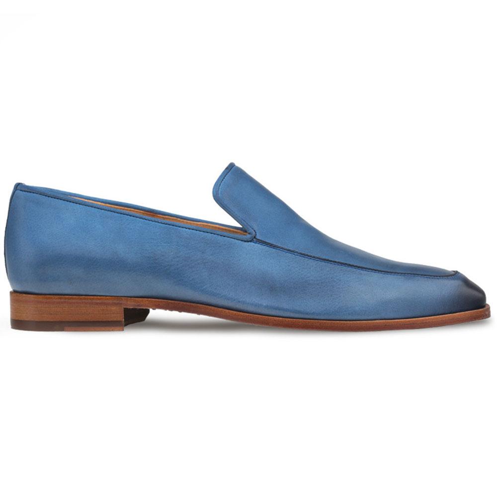 Mezlan R605 Leather Loafers Blue Image