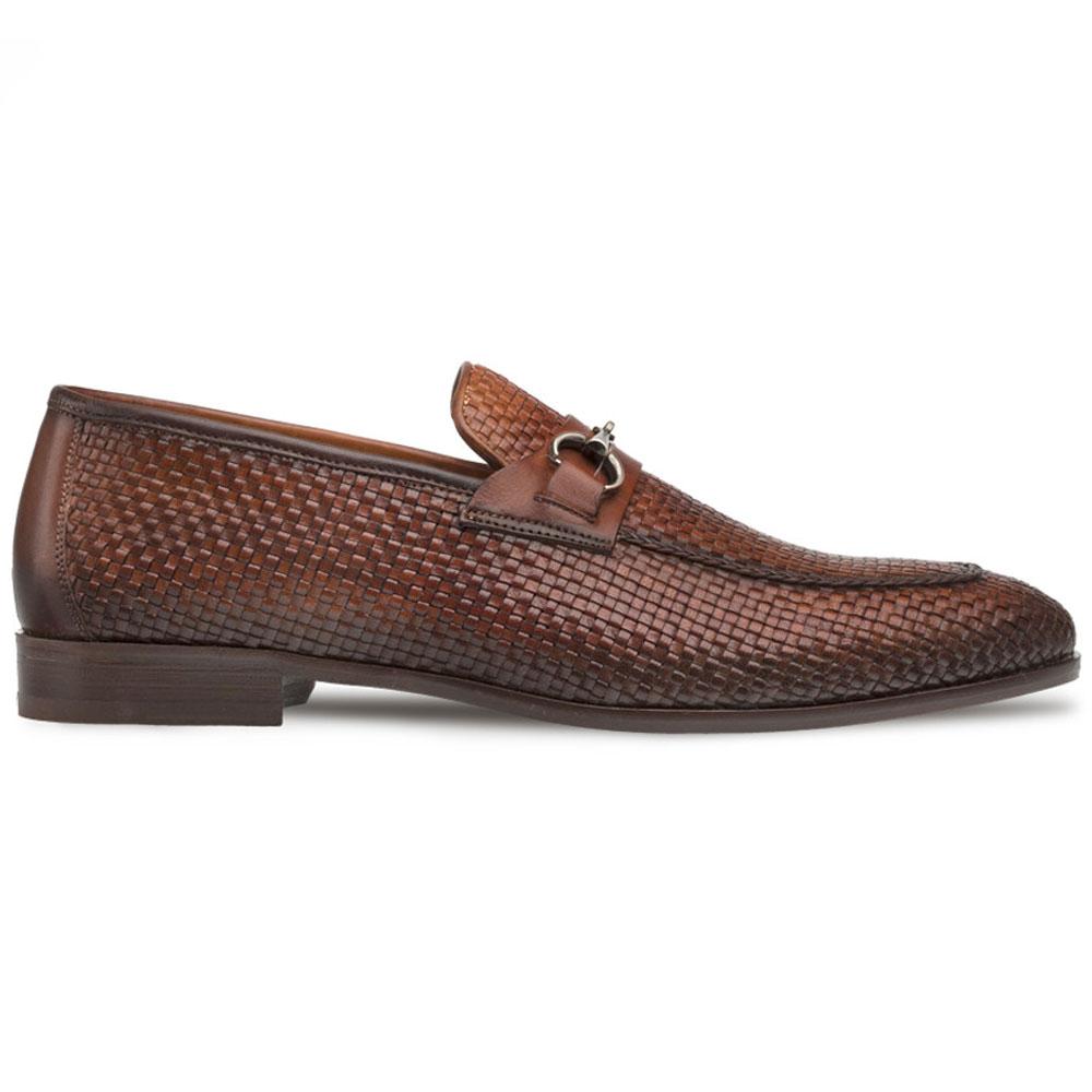 Mezlan R606 Woven Bit Loafers Cognac Image