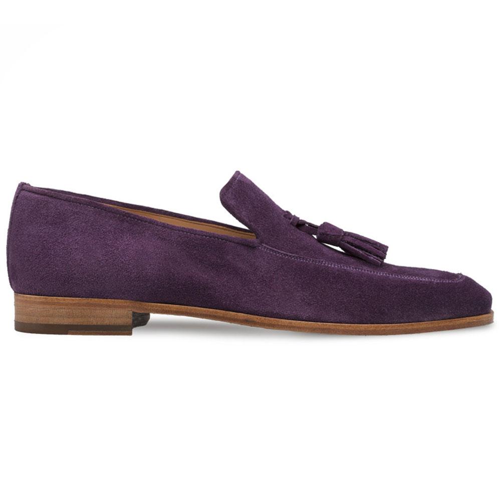 Mezlan R607 Suede Tassel Loafers Purple Image