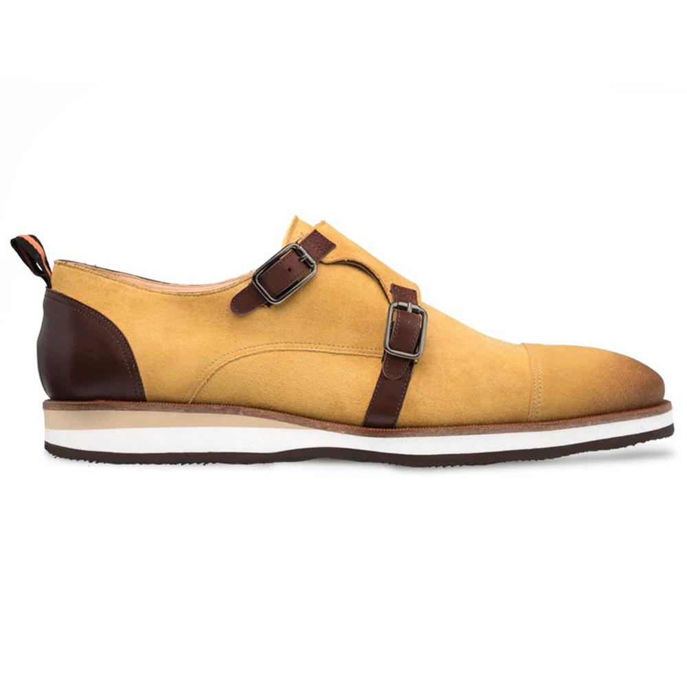Mezlan R610 Suede Monk Strap Shoes Camel / Brown Image