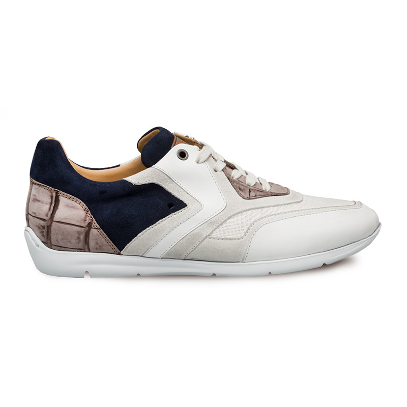 Mezlan Raphaelle Multi Material Sneakers White Multi Image