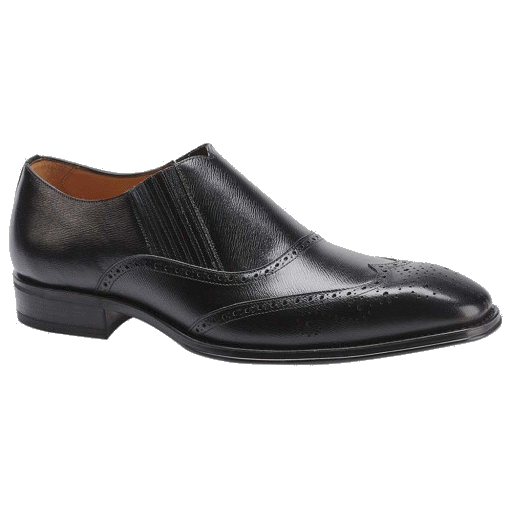 Mezlan Rioja Wingtip Loafers Black Image