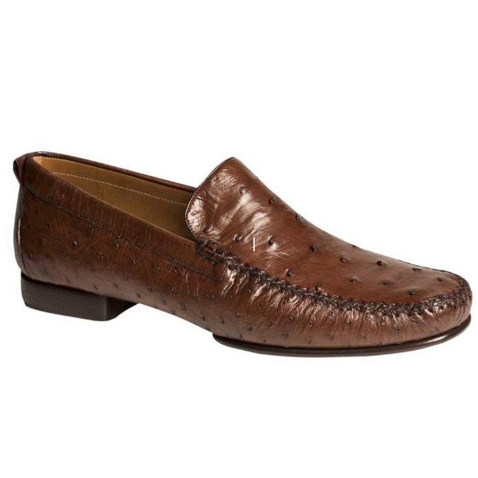 Mezlan Rollini Ostrich Loafers Tabac Image