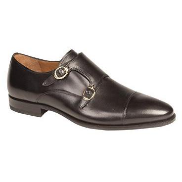 5ff1e5173b5d5 Mezlan Rosales Double Monk Strap Shoes Black