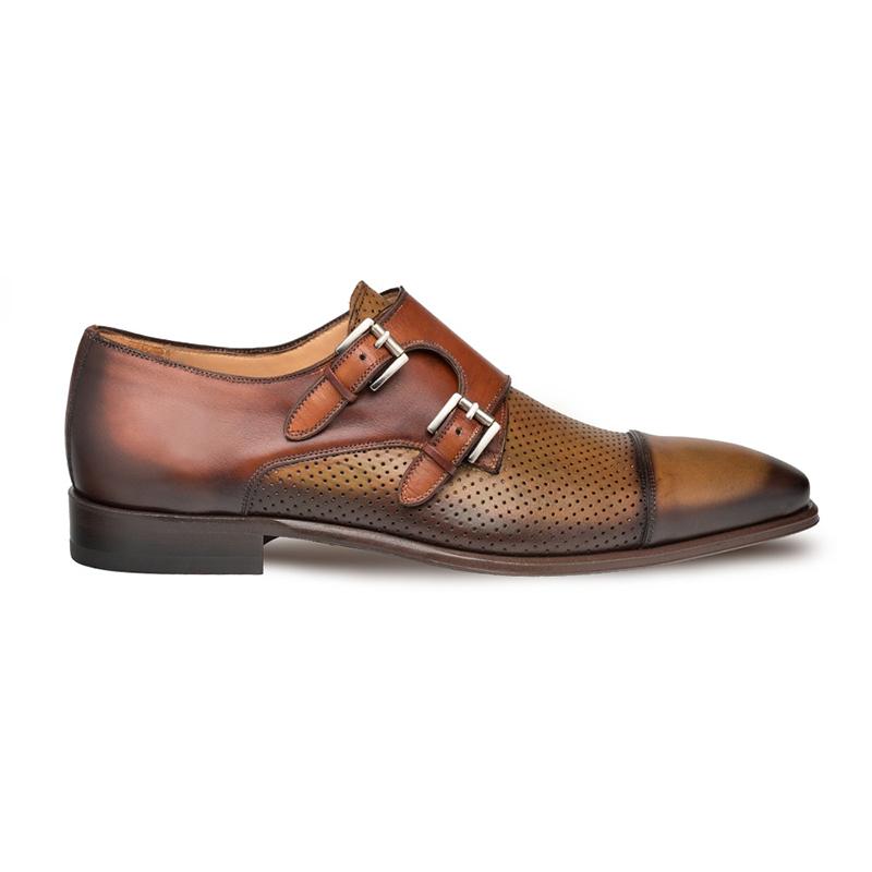 Mezlan Saber Cap Toe Shoes Olive/Cognac Image