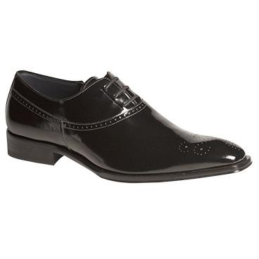 Mezlan Salute Shiny Calfskin Oxfords Black Image